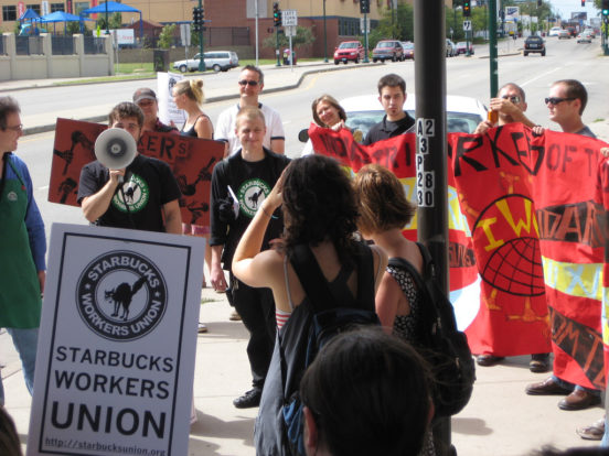 IWW Starbucks protest, 2008 © Smeeli | Flickr