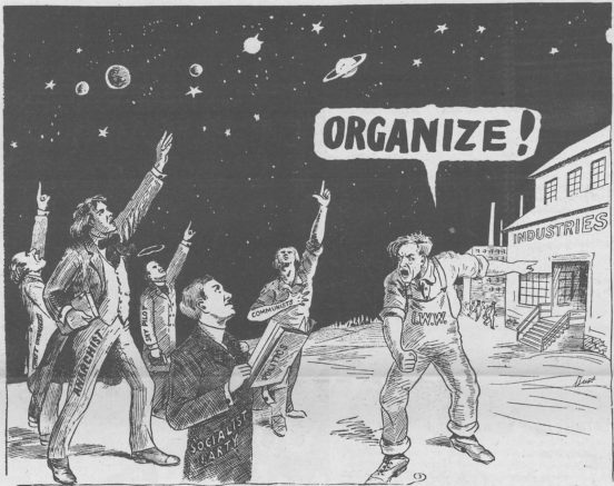 "Dust Wallin ""Organize!"" IWW Comic"