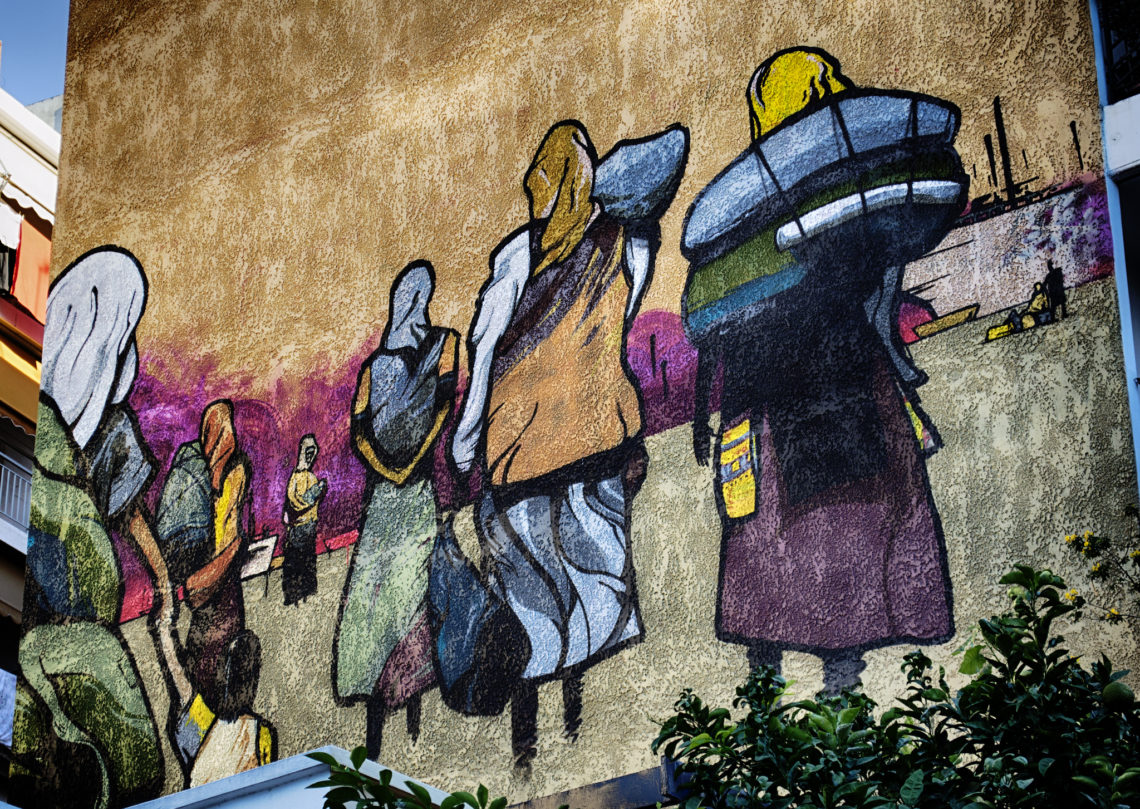 Refugees Street Art, 2013 © VangelisB | Flickr