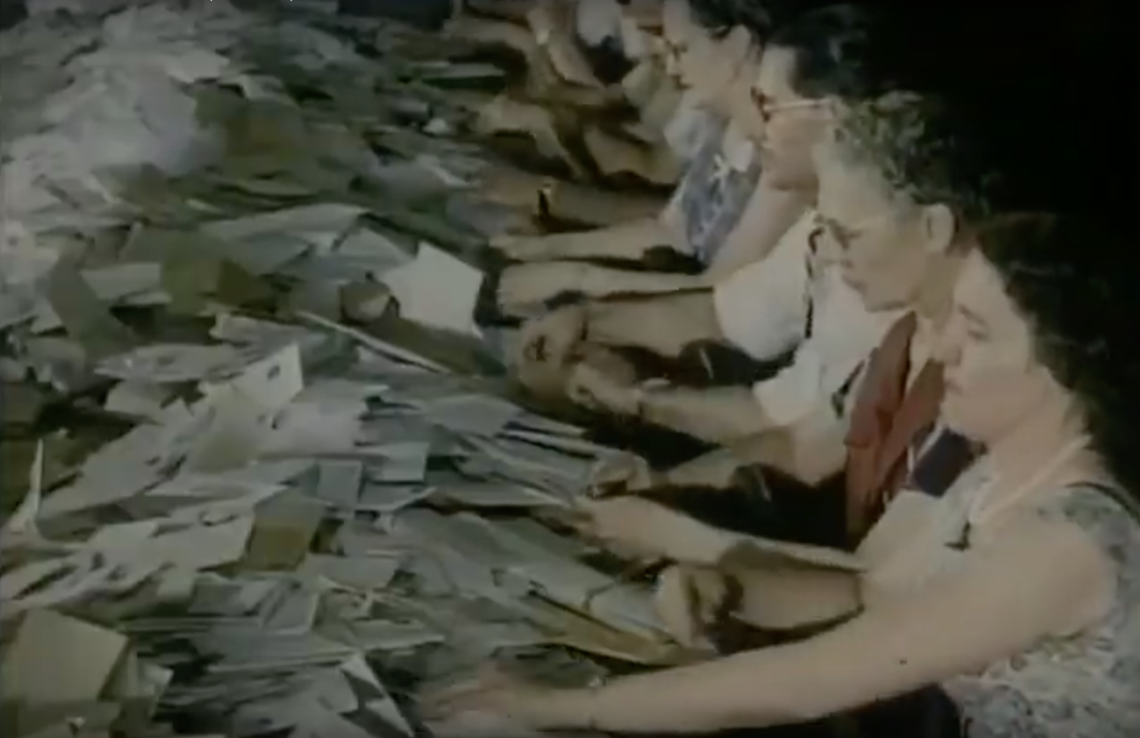 """Still from CUPW film """"Memory and Muscle"""" (1995)"""
